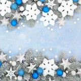 Christmas Decorative Star Ball and Snowflake Border