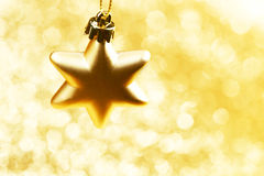 Christmas decorative star Stock Photography