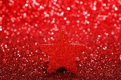 Christmas decorative star Royalty Free Stock Photos