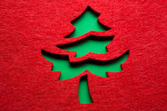 Christmas decorative tree Stock Photos
