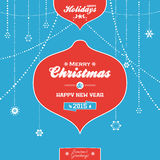 Christmas decorative vector blue background Royalty Free Stock Photography