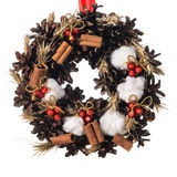 Christmas decorative wreath Royalty Free Stock Photos