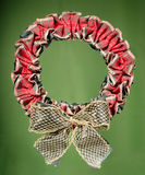 Christmas decorative Wreath Stock Images