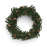 Christmas decorative wreath with cones Royalty Free Stock Photos