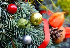 Christmas decorative wreath Stock Photos