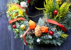 Christmas decorative wreath Royalty Free Stock Photo