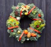 Christmas decorative wreath Royalty Free Stock Image