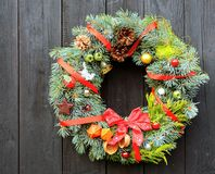 Christmas decorative wreath Stock Image