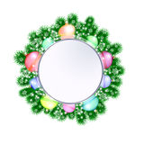 Christmas decorative wreath on white background Royalty Free Stock Images