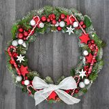 Christmas Decorative Wreath royalty free stock image