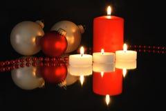 Christmas decorattion on mirror Stock Photography