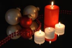 Christmas decorattion on mirror Royalty Free Stock Photos