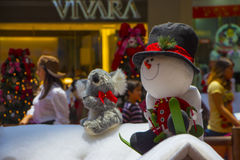 Christmas decotations at a Shopping Mall Stock Image
