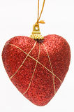 Christmas deep red heart Stock Photos