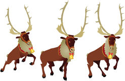 Christmas deer. Vector illustration in AI-EPS8 format Royalty Free Stock Photo
