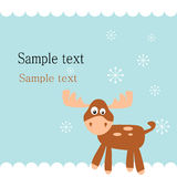 Christmas deer Royalty Free Stock Image
