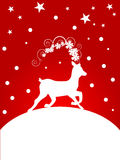 Christmas deer. Illustration of a deer on a christmas background Royalty Free Stock Photos
