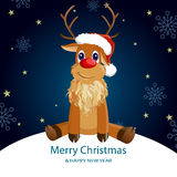 Christmas deer. Illustration of a reindeer on an abstract christmas background Stock Image