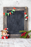 Christmas Deer And Chalkboard Royalty Free Stock Photo
