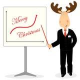 Christmas Deer As Businessman Stock Images