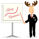 Christmas deer as businessman Stock Images