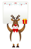 Christmas Deer Banner Royalty Free Stock Images