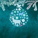 Christmas deer card. EPS 8 Stock Photography