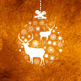 Christmas deer card. EPS 8 Royalty Free Stock Photos