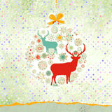 Christmas deer card. EPS 8 Royalty Free Stock Photo