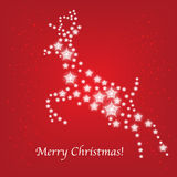 Christmas deer card of stars Stock Photos
