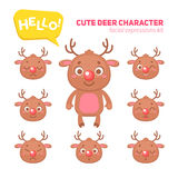 Christmas deer character construction kit Royalty Free Stock Photography