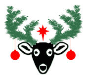 Christmas Deer Stock Photo
