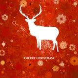 Christmas deer cintage card. EPS 8 Stock Photos