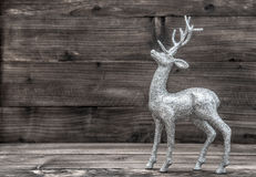 Christmas deer. Deecoration on wooden background Stock Photography