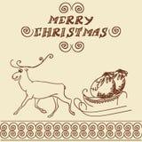Christmas deer doodles Royalty Free Stock Photos