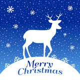 Christmas Deer. EPS 10 file and large jpg included Royalty Free Stock Photography