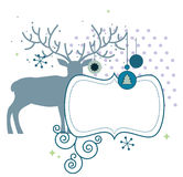 Christmas deer with frame Royalty Free Stock Photography