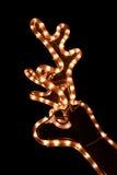 Christmas deer garland Stock Image
