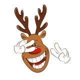 Christmas deer greating you. Royalty Free Stock Image