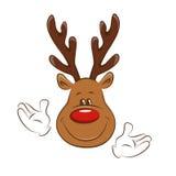 Christmas deer greating you. Royalty Free Stock Photos