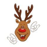 Christmas deer greating you. Stock Photo
