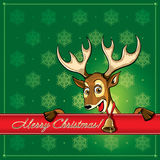 Christmas Deer. Greeting card. Royalty Free Stock Images
