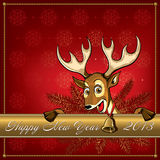 Christmas Deer. Greeting card. Royalty Free Stock Photography