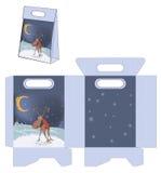 Christmas deer . Handbags packages pattern Royalty Free Stock Image