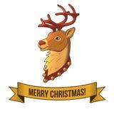 Christmas deer icon Royalty Free Stock Photo