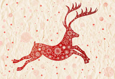 Christmas deer illustration Stock Image
