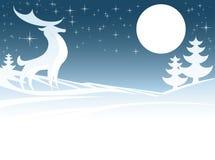 Christmas Deer Illustration Royalty Free Stock Image