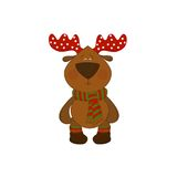 Christmas deer isolated on white background Stock Photo
