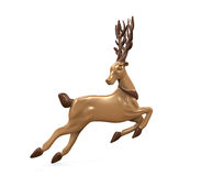 Christmas Deer Isolated Stock Images