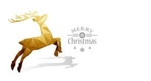Christmas deer Low Poly Stock Image